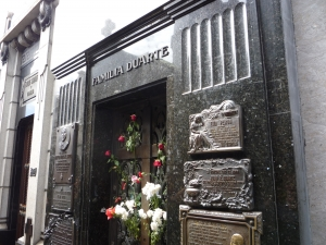 Evita's family mausoleum