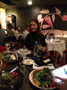 Natia at the Café Littera